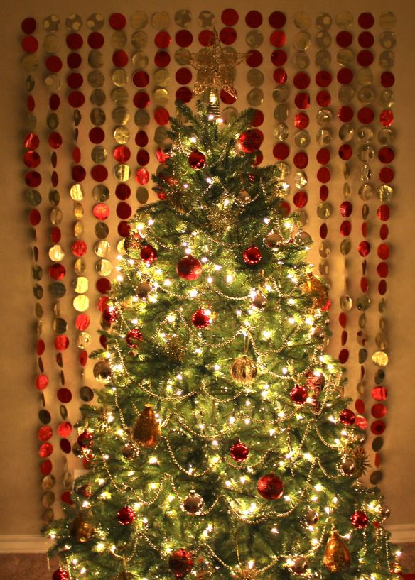 Paper Garland Christmas Tree Backdrop