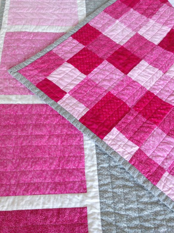 Color Block Quilt with Pieced backing