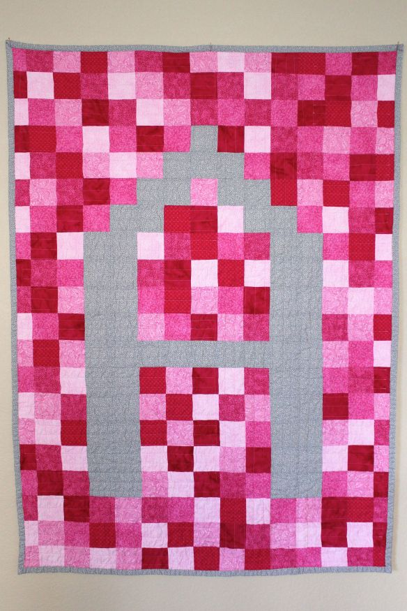 Monogrammed Pieced Quilt Backing